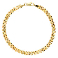 9ct Yellow Gold 4mm Panther Bracelet