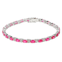 18ct White Gold 7.50ct Ruby & 0.30ct Diamond Bracelet