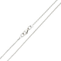 9ct White Gold 1.46mm Close Link Filed Trace Chain