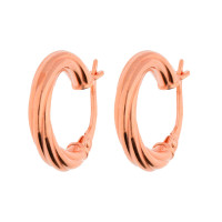 9ct Rose Gold 15mm Twisted Creole Earrings