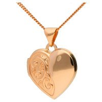 9ct Rose Gold Heart Locket