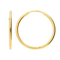 9ct Yellow Gold 20mm Fine Sleeper Hoop Earrings