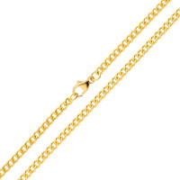 18ct Yellow Gold 2.88mm Filed Curb Chain
