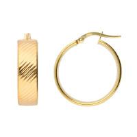 9ct Yellow Gold 23mm Hoop Earrings