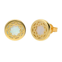 9ct Gold Mother of Pearl Stud Earrings