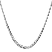 9ct White Gold Fancy Graduated Palmier Necklace