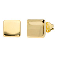 9ct Gold Contemporary Square Stud Earrings