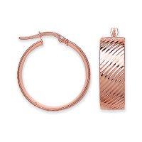 9ct Rose Gold Hoop Earrings