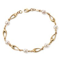 9ct Gold Pearl Bracelet