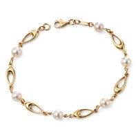 9ct Gold Pearl Bracelet