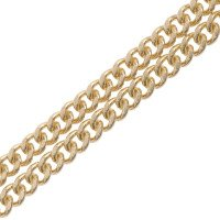18ct Yellow Gold Filed Curb Chain Necklace