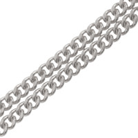 18ct White Gold 2.11mm Filed Curb Chain Necklace