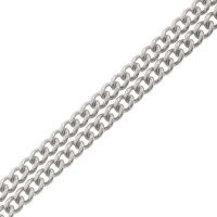18ct White Gold Filed Curb Chain