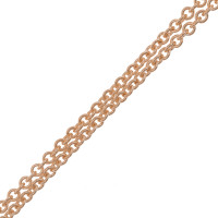 18ct Rose Gold 1.55mm Tight Link Trace Chain
