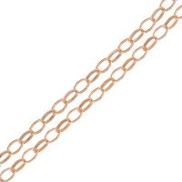 9ct Rose Gold 1.84mm Oval Link Belcher Chain