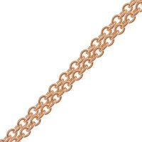 18ct Rose Gold 1.93mm Close Link Trace Chain