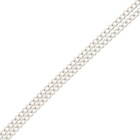 18ct White Gold 1.20mm Filed Curb Chain