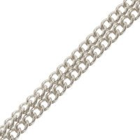 9ct White Gold 1.37mm Curb Chain