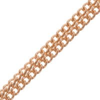 9ct Rose Gold 1.37mm Curb Chain