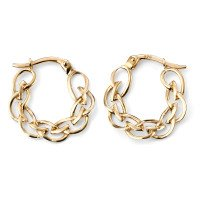9ct Gold Celtic Hoop Earrings