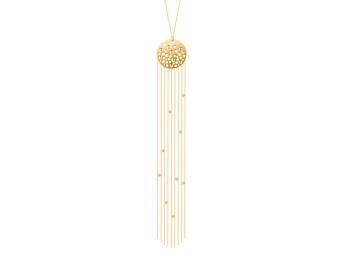 Sterling Silver & Gold Vermeil Tassel Necklace