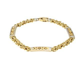 Vintage 9ct Yellow & White Gold Fancy Bracelet