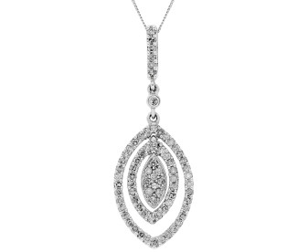 9ct White Gold 0.50ct Diamond Pendant