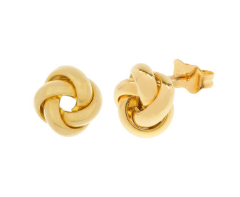 18ct Yellow Gold Knot Stud Earrings