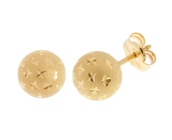 9ct Yellow Gold 7mm Ball Stud Earrings