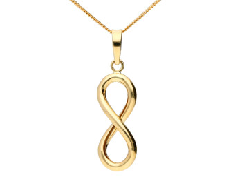 9ct Yellow Gold Infinity Pendant