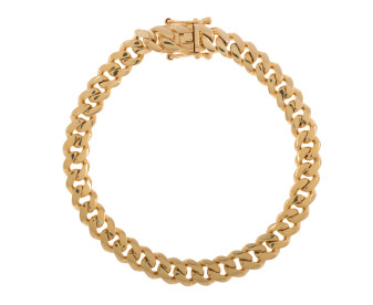 Men's 9ct Yellow Gold 7.60mm Tight Curb Bracelet