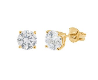 18ct Yellow Gold 0.70ct Diamond Solitaire Stud Earrings