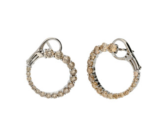 18ct White Gold 1.21ct Champagne Diamond Earrings