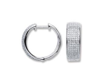 18ct White Gold 0.55ct Diamond Hoop Earrings