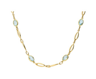 9ct Yellow Gold Topaz Fancy Necklace