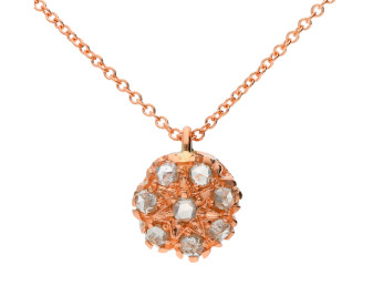 Handcrafted Italian 0.35ct Diamond Cluster Pendant