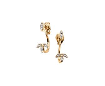 9ct Gold Diamond Jacket Stud & Drop Earrings