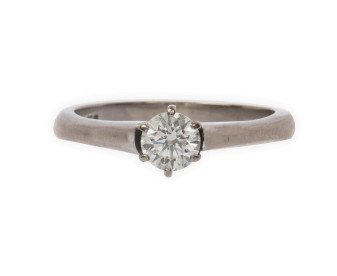 Pre-Owned 18ct White Gold 0.46ct Diamond Solitaire Ring