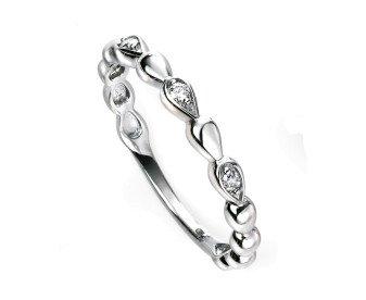 9ct White Gold Diamond Dress Ring
