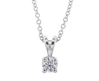 18ct White Gold 0.10ct Diamond Solitaire Pendant