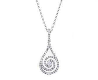 18ct White Gold 0.50ct Diamond Dress Pendant