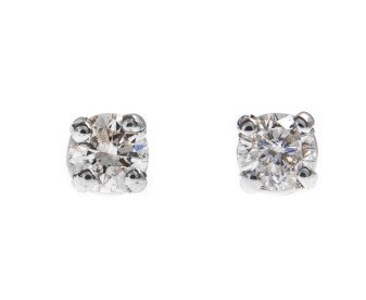 18ct White Gold 0.20ct Diamond Solitaire Earrings