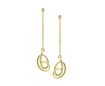 Sterling Silver & 18ct Gold Vermeil Stone Set Serenity Drop Earrings