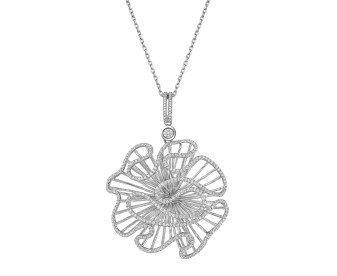 Sterling Silver Cascade Large Pendant