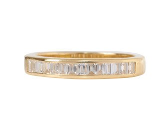 18ct Gold 0.38ct Diamond Half Eternity Ring
