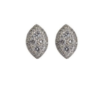 18ct White Gold 0.60ct Diamond Cluster Earrings