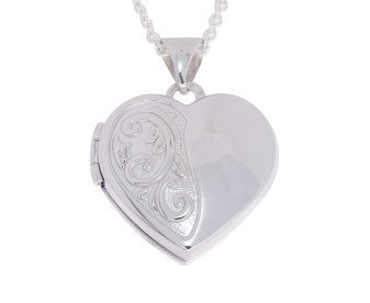 Sterling Silver Small Heart Locket