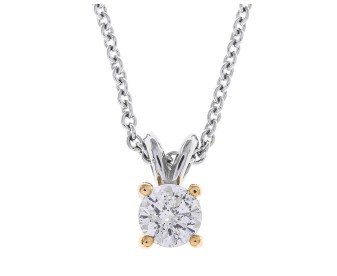 Classic Collection 18ct Gold 0.50ct Diamond Solitaire Pendant
