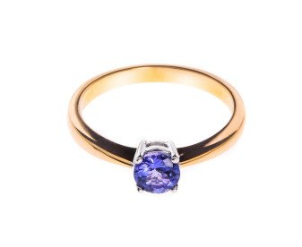 18ct Gold Solitaire Tanzanite Ring