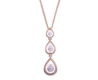 9ct Rose Gold Cultured Pearl Pendant
